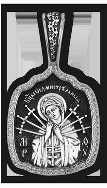 Икона Божией Матери Умягчение злых сердец Семистрельная 08034-с