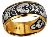 Кольцо Орнамент из водяных лилий. Молитва Пречистой Божией Матери