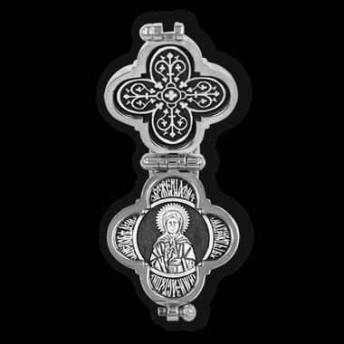Крест-мощевик Распятие Христово с предстоящими. Блж. Матрона Московская