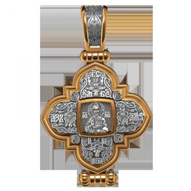 """Мощевик """"Господь Вседержитель. Казанская икона Божией Матери"""""""