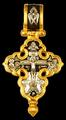 Мощевик Распятие Христово с предстоящими Покров Пресвятой Богородицы