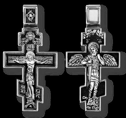 Распятие Христово. Архангел Михаил. Православный крест