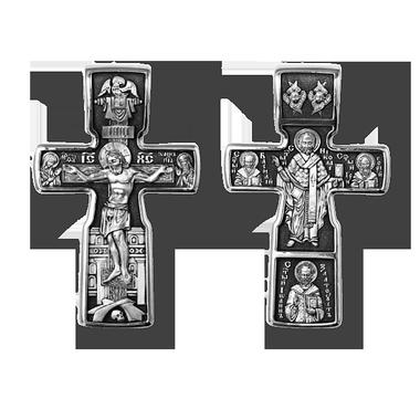 Православные Крестики. Распятие Христово Николай Чудотворец Три Святителя
