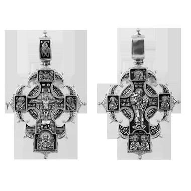 Распятие Христово с предстоящими Ангел Хранитель Казанская икона БМ Святые покровители семьи