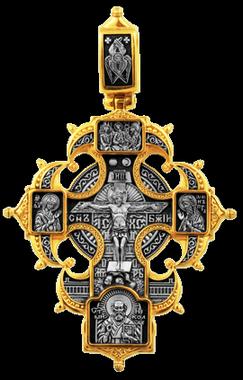 Распятие Христово с предстоящими. Ангел Хранитель. Казанская икона Божией Матери. Святые покровители семьи