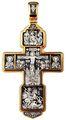 Распятие Христово с предстоящими. Святая Троица. Архангел Михаил. Св. Воины Тихвинская икона Божией Матери