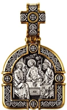 Святая Троица Образок 08215