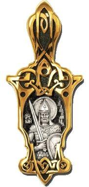 Святой благоверный князь Александр Невский. Образок 08295