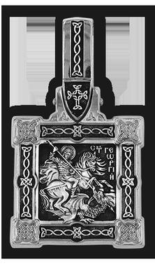 Великомученик Георгий Победоносец. Образок 08145-с