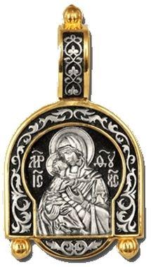 Владимирская икона Божией Матери. Образок 08245