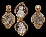 Восьмиконечный крест Молитва Богородице Иконы Бл Матроны и БМ Взыскание погибших